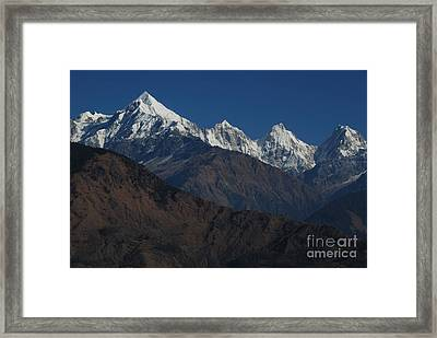 Framed Print featuring the photograph The Panchchuli Range by Fotosas Photography
