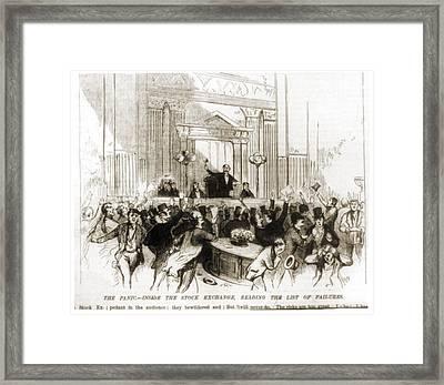 The Panic Inside The New York Stock Framed Print
