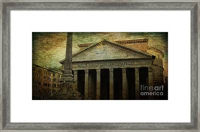 The Pantheon's Curse Framed Print by Lee Dos Santos