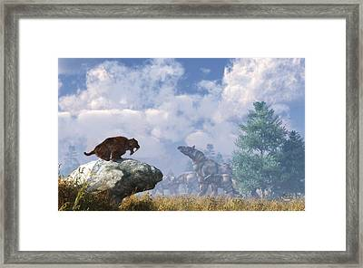 The Paraceratherium Migration Framed Print by Daniel Eskridge