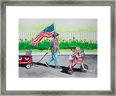 The Parade Framed Print by Parker Jim