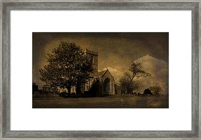 The Parish Church Of St Andrew Texture Framed Print