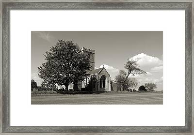 The Parish Church Of St Andrewbw Framed Print