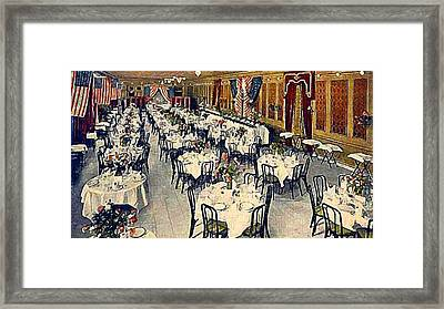 The Park Avenue Hotel Banquet Hall In 1910 Framed Print by Dwight Goss