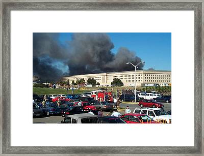 The Parking Lot On The Metro Concourse Framed Print by Everett