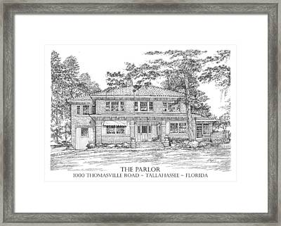 The Parlor Tallahassee Florida Framed Print