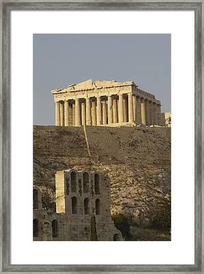 The Parthenon On The Acropolis Framed Print by Richard Nowitz