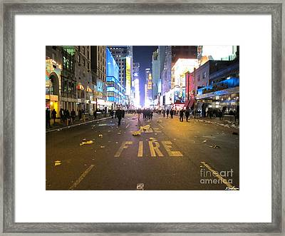 The Party Is Over Framed Print by Robin Ziegelbaum