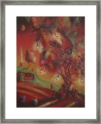 The Party Tree. Never To Be Seen Again. Framed Print by Joe  Gilronan
