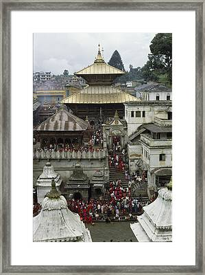 The Pashupatinath Temple Framed Print by James P. Blair
