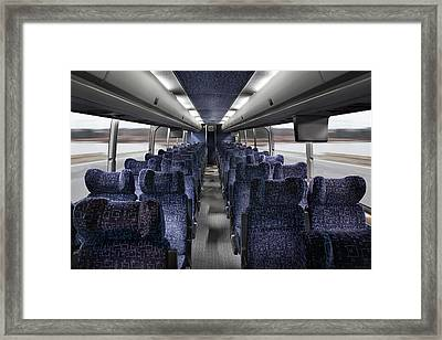 The Passenger Seating In A Coach Framed Print by Christian Scully