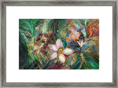 The Passion Of Green Framed Print by Elena Kotliarker