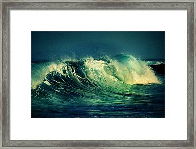 The Passion Of The Ocean II Framed Print by Jenny Rainbow