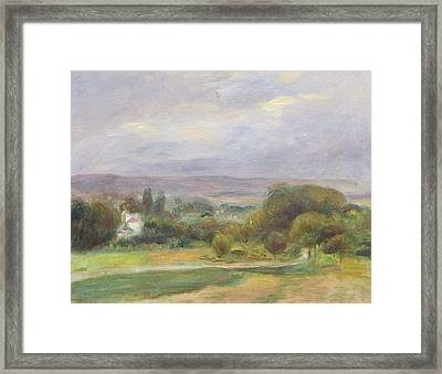 The Path Framed Print by Pierre Auguste Renoir