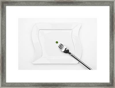The Pea Framed Print by Joana Kruse