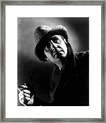 The Pearl Of Death, Basil Rathbone, 1944 Framed Print by Everett