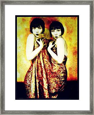 Framed Print featuring the photograph The Pearl Twins by Mary Morawska
