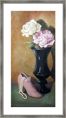 The Pearls Framed Print by Diana Cox