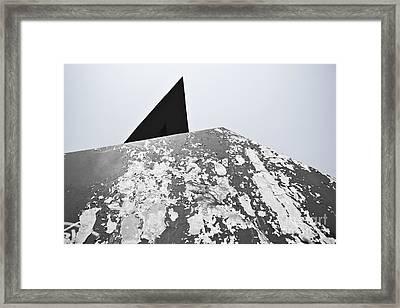 The Peeling Pyramids Framed Print by L E Jimenez
