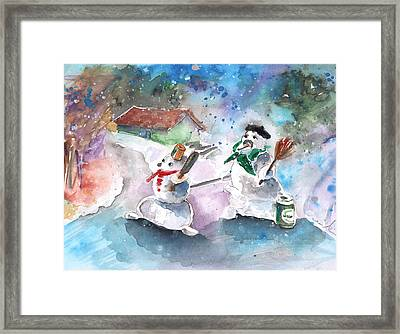 The People From The Troodos Mountains Framed Print by Miki De Goodaboom