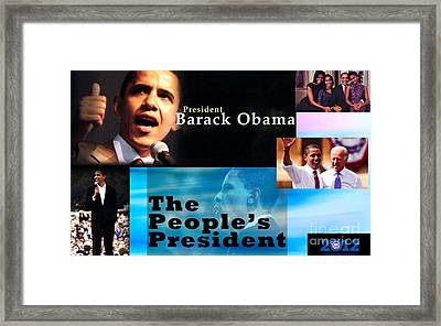 The People's President Framed Print