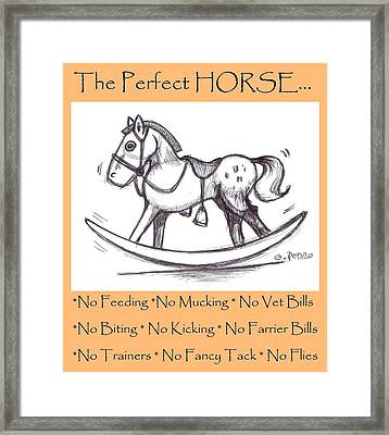 the Perfect Horse Framed Print by George Pedro