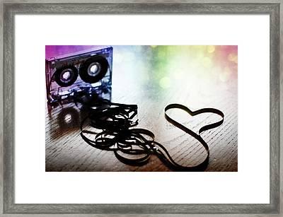 The Perfect Mix Tape Framed Print by Created by Tafari K. Stevenson-Howard