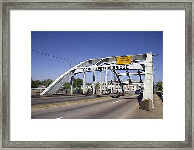The Pettus Bridge In Selma Alabama Framed Print