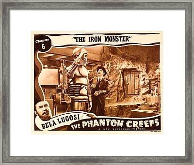 The Phantom Creeps, Chapter 6 The Iron Framed Print by Everett