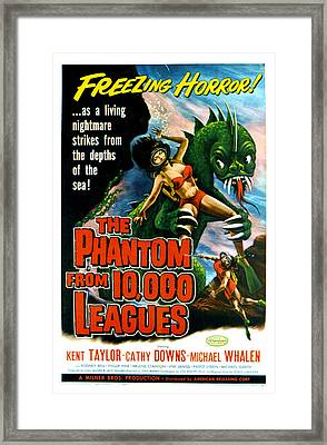 The Phantom From 10,000 Leagues, Poster Framed Print