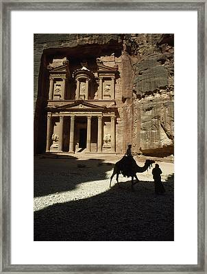 The Pharaohs Treasury Or Khazneh Framed Print by James L. Stanfield