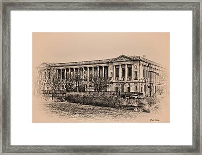 The Philadelphia Free Library Framed Print by Bill Cannon