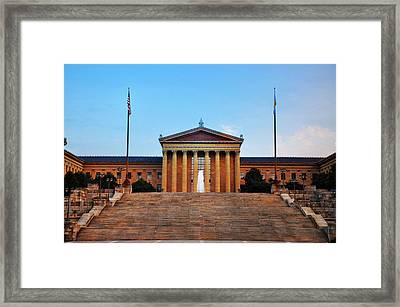 The Philadelphia Museum Of Art Front View Framed Print by Bill Cannon