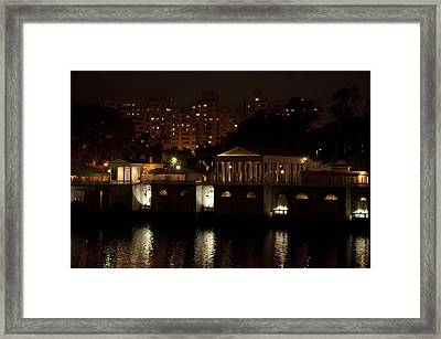 The Philadelphia Waterworks All Lit Up Framed Print by Bill Cannon