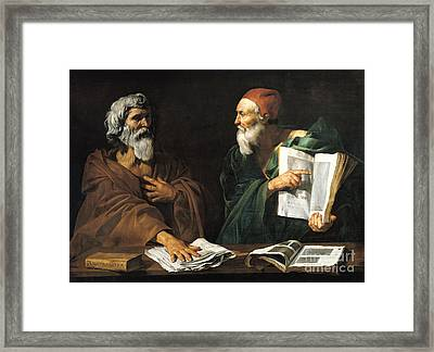 The Philosophers Framed Print by Master of the Judgment of Solomon