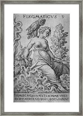 The Phlegmatic Personality Was Calm Framed Print