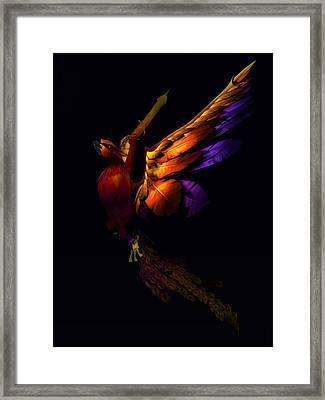 Framed Print featuring the digital art The Phoenix Rising... by Tim Fillingim