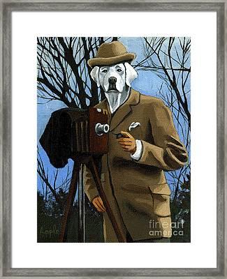 The Photographer - Dog Portrait Framed Print by Linda Apple