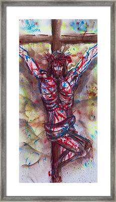 The Physical Death Of Jesus Framed Print by Thomas Lentz