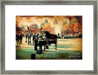 The Piano Man Framed Print by Ken Marsh