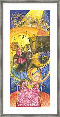 Musician Framed Print by Barbara Esposito