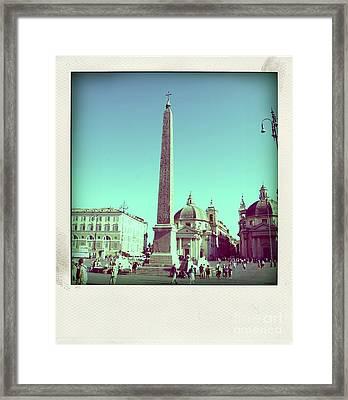 The Piazza Del Popolo. Rome Framed Print by Bernard Jaubert