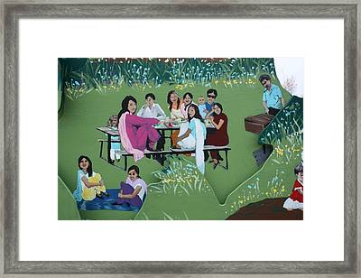 Framed Print featuring the painting The Picnic by Jan Swaren