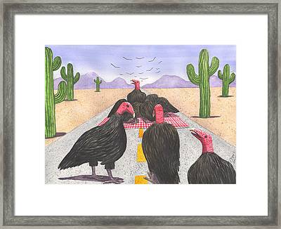 The Picnicers Framed Print