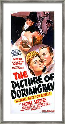 The Picture Of Dorian Gray, Donna Reed Framed Print by Everett