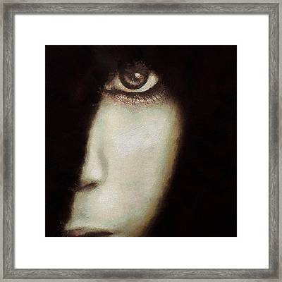 The Piece Of Me I Choose To Show Framed Print by Gun Legler