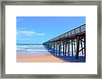 The Pier Framed Print by Brenda Becker