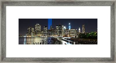 The Pilings Pano Framed Print