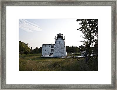 The Piney Point Lighthouse Framed Print by Bill Cannon