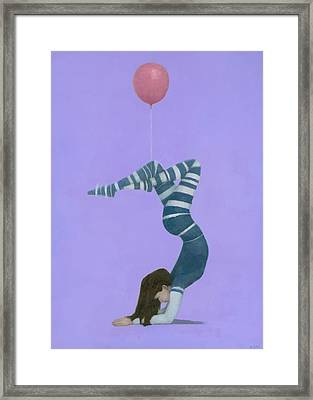 The Pink Balloon II Framed Print by Steve Mitchell